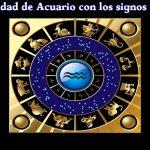 Compatibilidad de Acuario con otros signos